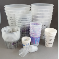 Graduated Plastic Mixing Containers